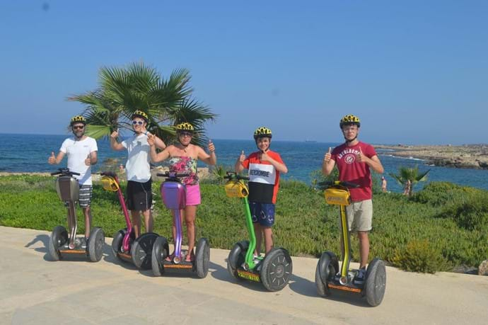 Family segway day out sightseeing in Pathos.