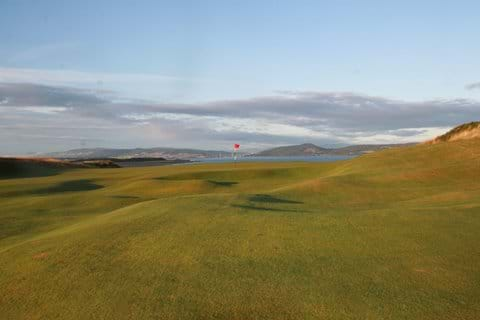 Castle Stuart golf course is the nearest golf course, about 10 minutes away