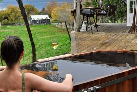 Wood fired hot tub bath, big enough for two!