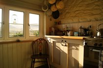 A well equipped cottage kitchen