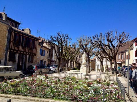Bergerac - a beautiful square