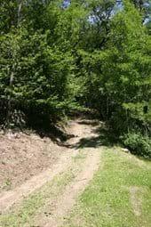 The track to Villa Rustica