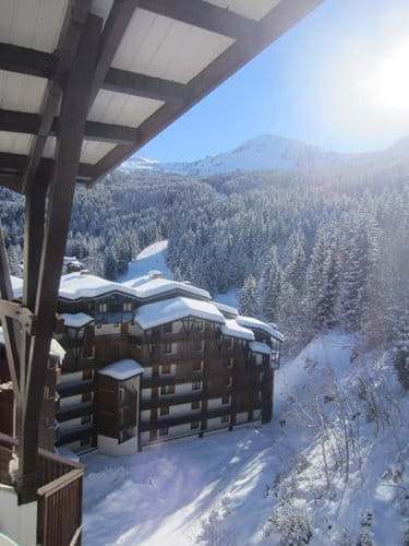 Balcony winter view to the slopes