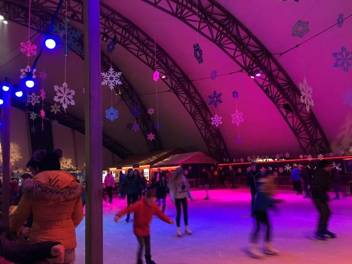 Ice skating at Eden