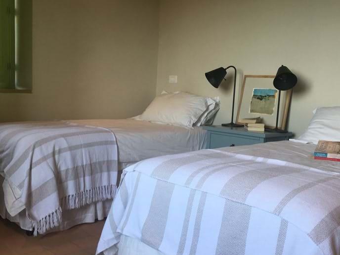 Twin bedroom detail