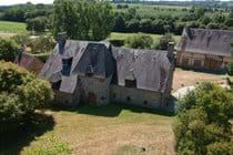 The Farmhouse at Boudet showing The Barn behind it.