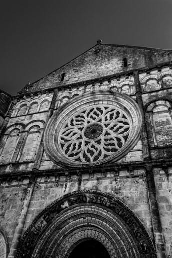 Magnificent Cognac Church of Saint Leger, located in Cognac town centre