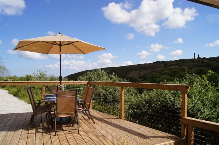 Sunny Deck with Sea View and Wheal Kitty