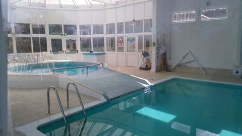 Indoor heated pool with childrens pool