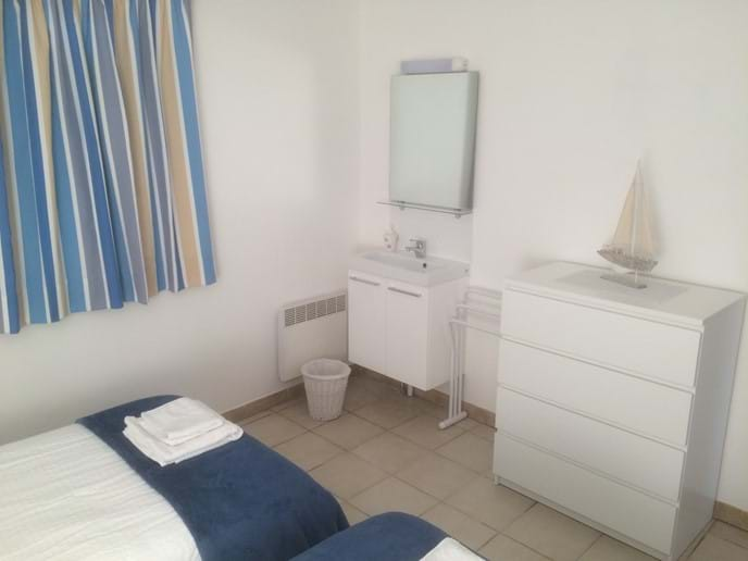 Basin in bedroom two