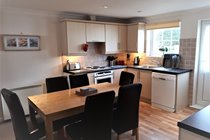Open Plan Lounge, Dining, Kitchen. Gold Lodge 35. Atlantic Reach Gold Lodges. www.newquay-selfcatering.com
