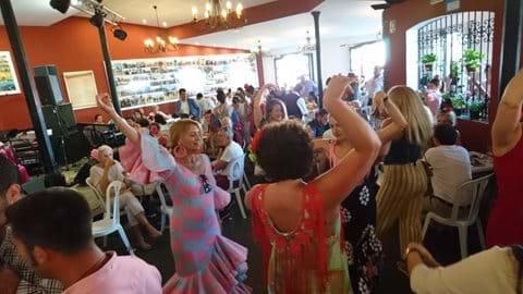 Fuengirola feria flamenco in all the bars