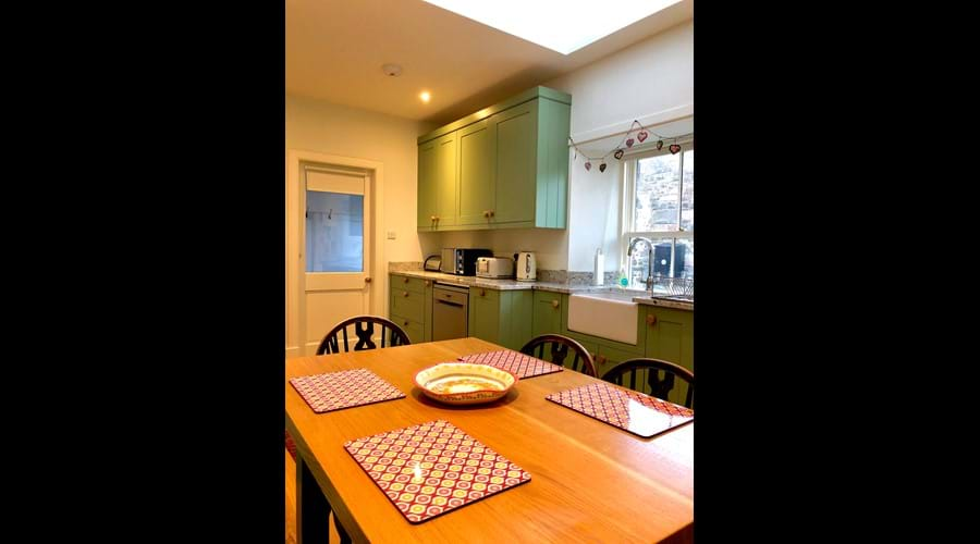 Hand-crafted wooden kitchen installed in 2018 with all new appliances