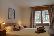 King bedded room with fabulous views of Staubbach Falls