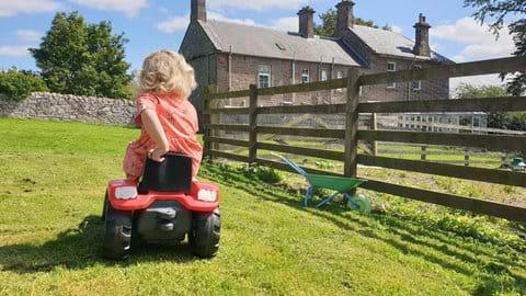 Mini farmers can enjoy the play area