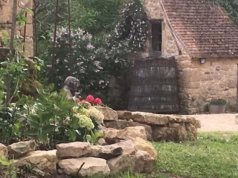Courtyard garden for the self catering villas