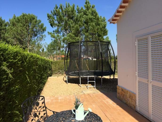 Private villa in Portugal with trampoline