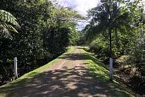 The private road leading to our bures.