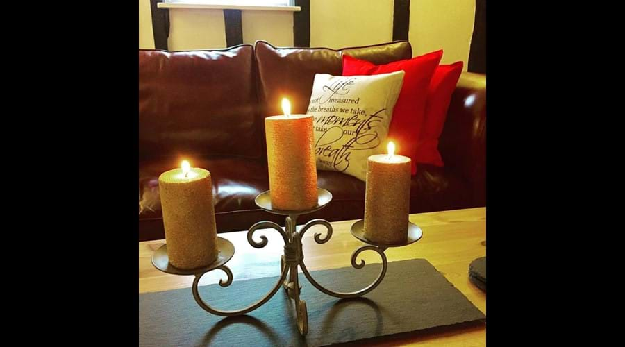 The log burner at this self-catering holiday cottage also adds to the cosy feel in winter