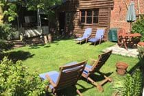 Loungers in the shared garden - perfect for sunning or snoozing
