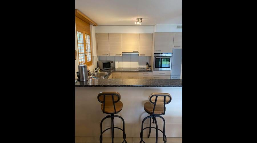 Well equipped kitchen with counter