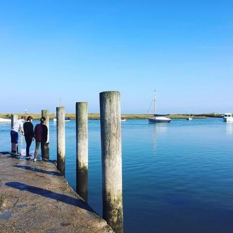 Crabbing Burnham Overy Staithe north Norfolk