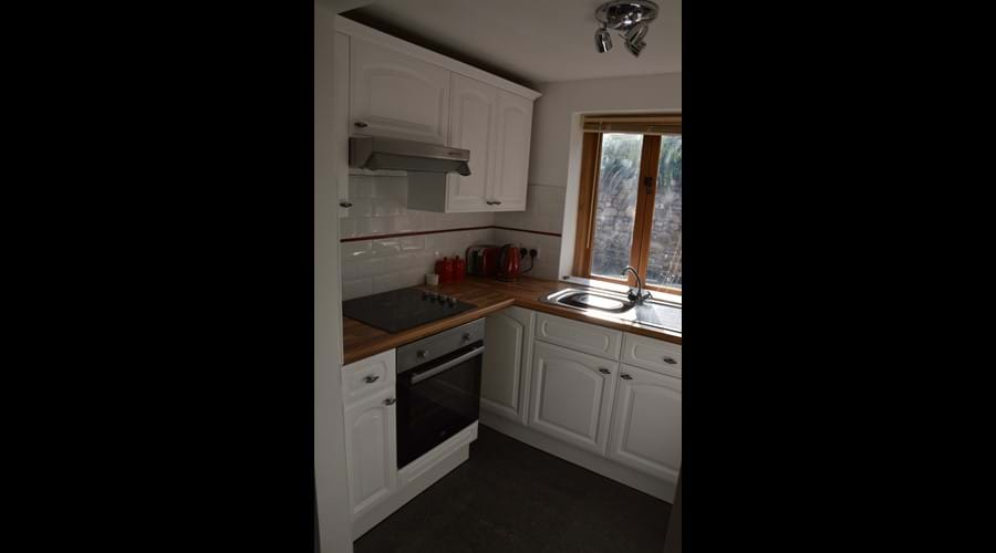 Kitchen Area with Electric Hob and Oven