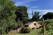External rear view of Huckworthy self-catering holiday cottage in Devon