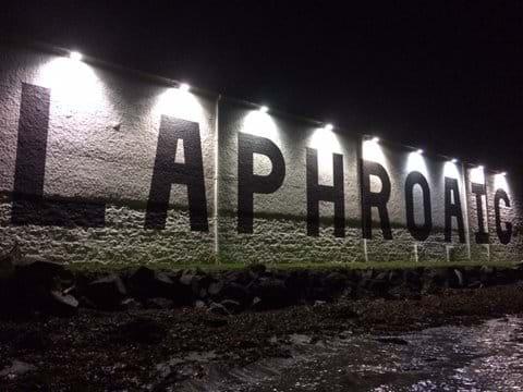 Laphroaig Warehouse by night