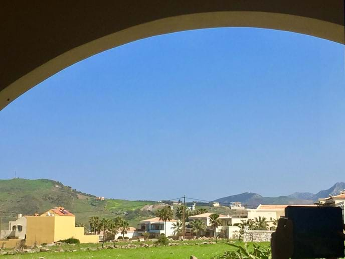 Views of Mountains & Village from Front Entrance
