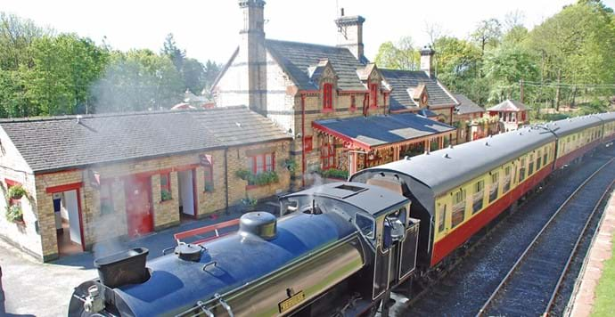 lakeside and haverthwaite steam railway, a short stroll from the cottages