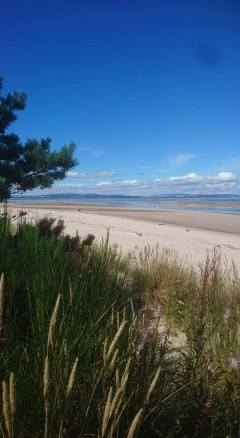 Nairn East beach photographed from the dunes