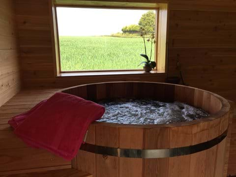 The Greenhouse Spa - cedar hot tub