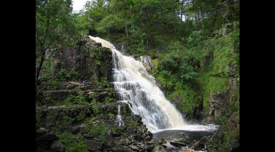 The waterfall at Coed Y Brenin well worth the walk - S Jager