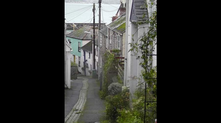 historic pretty lanes of Newlyn