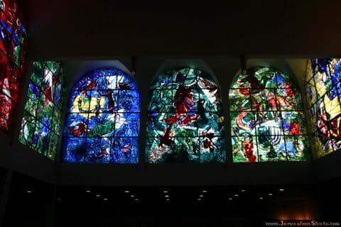 Chagall windows at the Hadassah Medical Centre