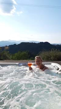 Relaxing in the Spa
