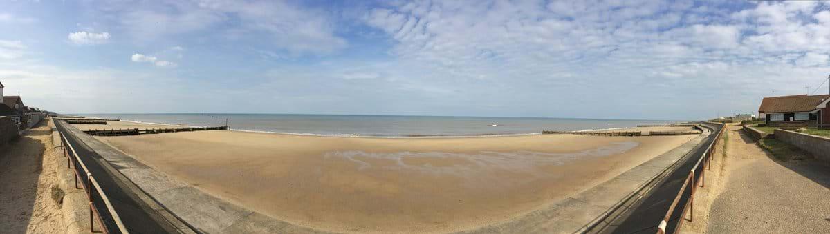 Panorama of the beach