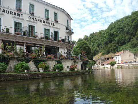 Riverside restaurant in Brantome
