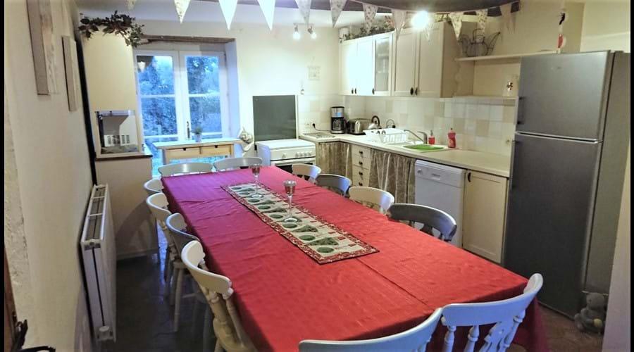 Farmhouse Kitchen at Christmas