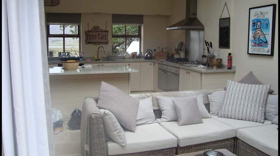 Open plan living area view
