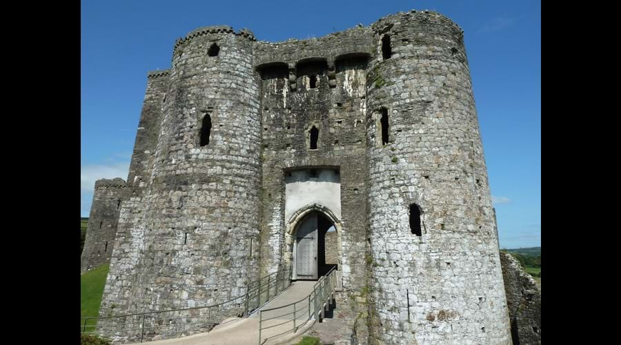 Kidwelly castle Carmarthenshire, just over an hour from Winllan, with Pembrey sands and country park close by, this is a brilliant day out.
