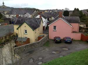 View of Castle Street from Castle mound
