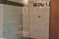 1200mm x 1200mm walk in shower with rainfall shower head