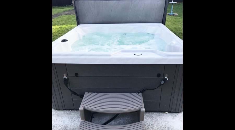 Optional hot tub
