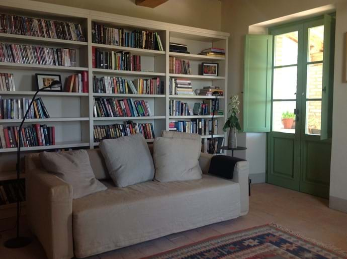 The library/downstairs sitting room
