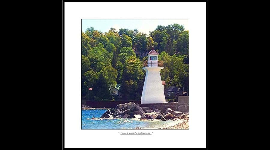 There are many lighthouses in various locations on the Northern Bruce Peninsula.