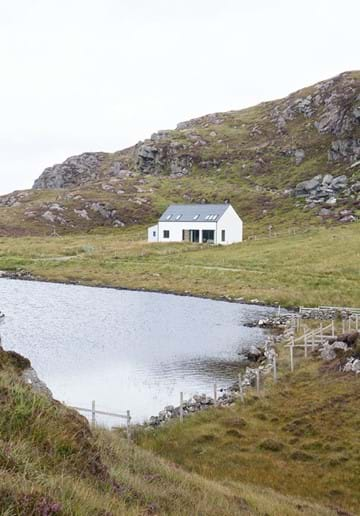 The house from beside the loch