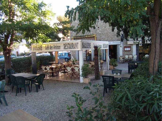 Cafe Des Artistes in Laroque des Alberes - a short walk from the villa.
