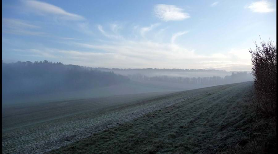 Cold crips winter country walks